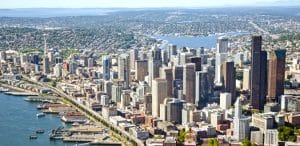 Fewer Cranes Fill the Skyline of Seattle in 2018